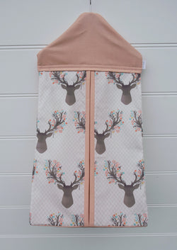 Nappy Stacker - Pink Deer Head