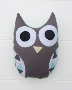 Aqua Owl Plush Toy