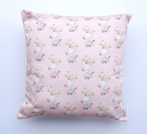 Pink Baby Deer Cushion Cover