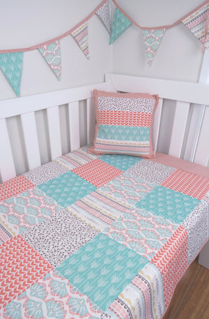 Pastel Arizona Patchwork Quilt