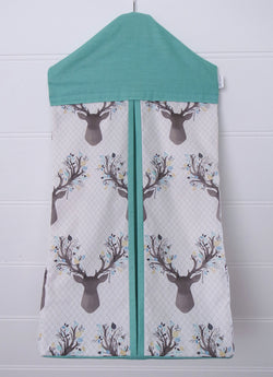 Nappy Stacker - Aqua Deer Head