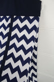 Nappy Stacker - Navy Blue & Chevron