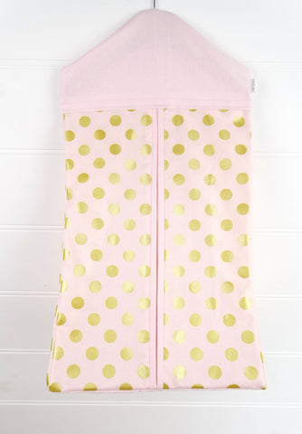Nappy Stacker - Pink & Gold Dot