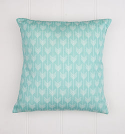 Aqua Arrows Cushion Cover