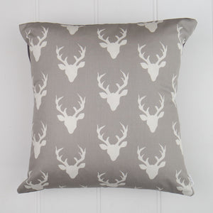 White Deer Head Cushion Cover