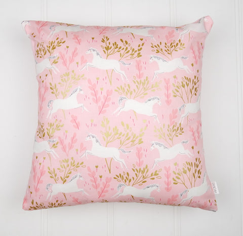 Pink & Gold Unicorn Cushion Cover