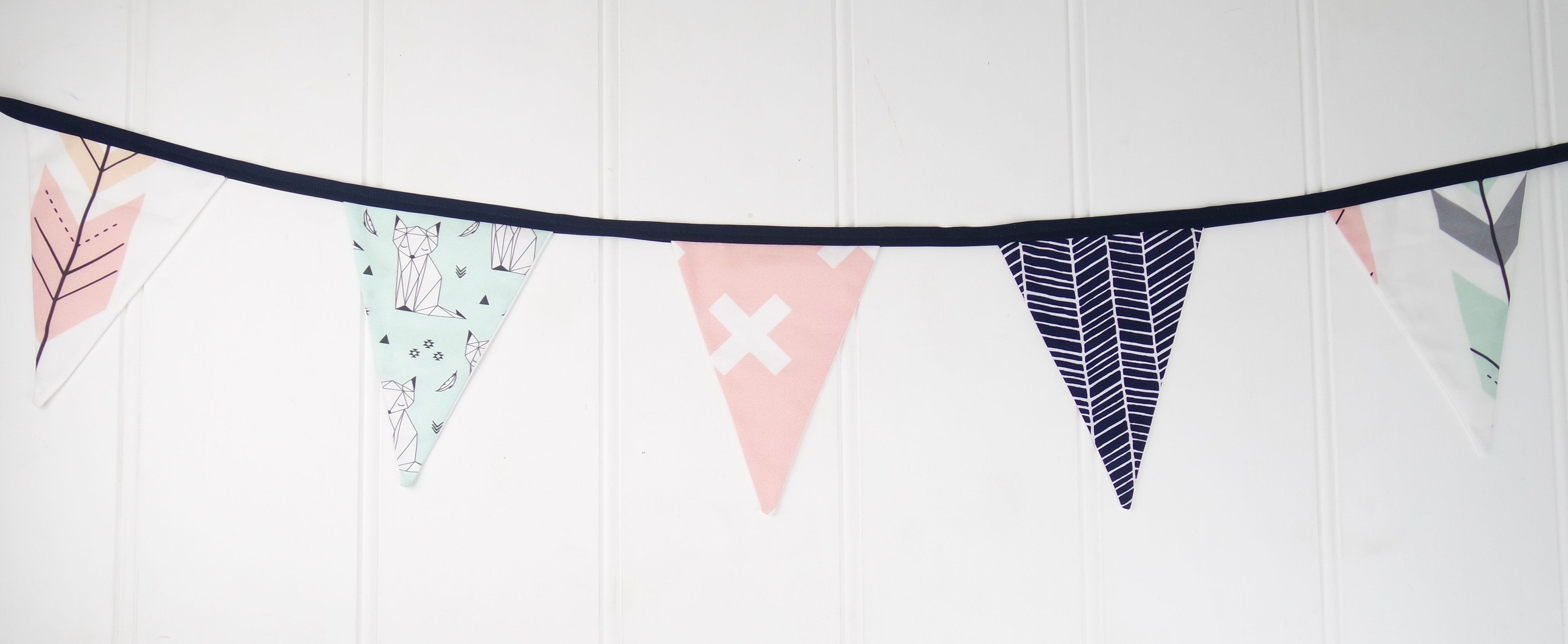 Mint Fox Bunting Flags