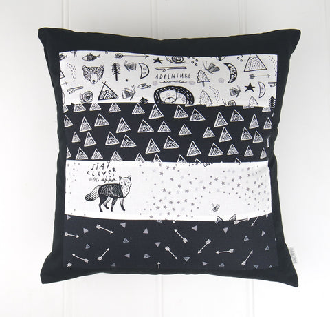 Adventure Awaits Patchwork Cushion Cover