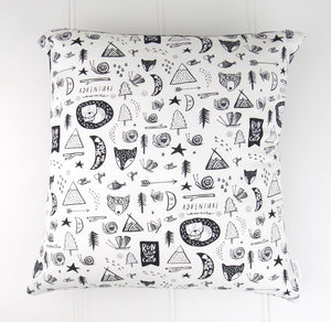 Adventure Awaits White Cushion Cover