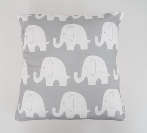 Pink & Grey Elephant Cushion Cover