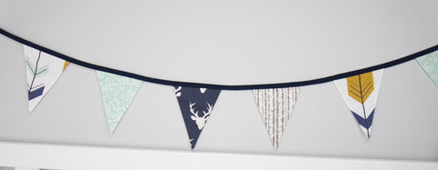 Navy Buck Bunting Flags