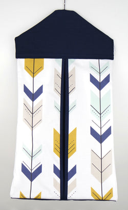 Nappy Stacker - Navy & Mustard Arrow