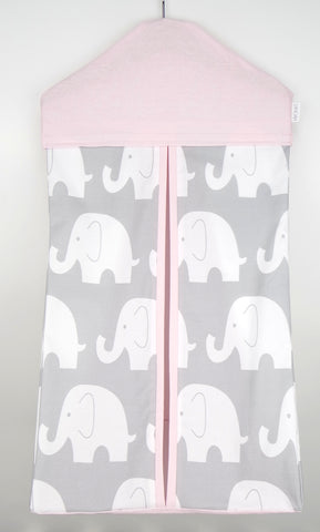 Nappy Stacker - Pink & Grey Elephant