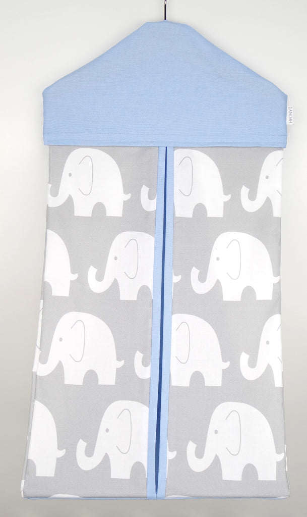 Nappy Stacker - Baby Blue & Grey Elephant