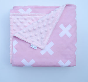 SALE - Pink Kisses Baby Blanket