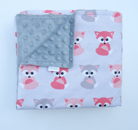 SALE - Fox Baby Blanket