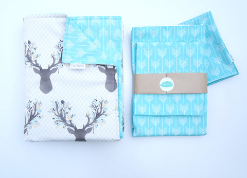 SALE - Aqua Blue Deer Arrow 4 Piece Set