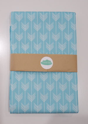 SALE - Aqua Blue Arrow Fitted Sheet