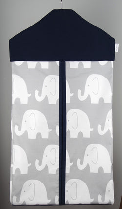 Nappy Stacker - Navy Blue & Grey Elephant