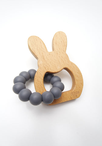 Charcoal Bunny Teether