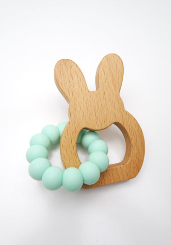 Mint Bunny Teether