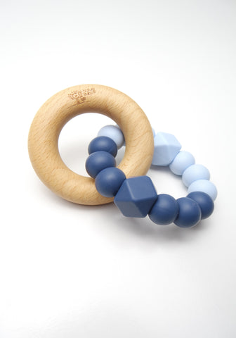 Ice Blue & Navy Blue Teether