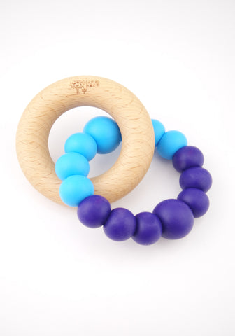 Navy Blue & Bright Blue Teether