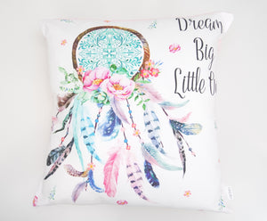 Pink Dream Big Little One Cushion Cover