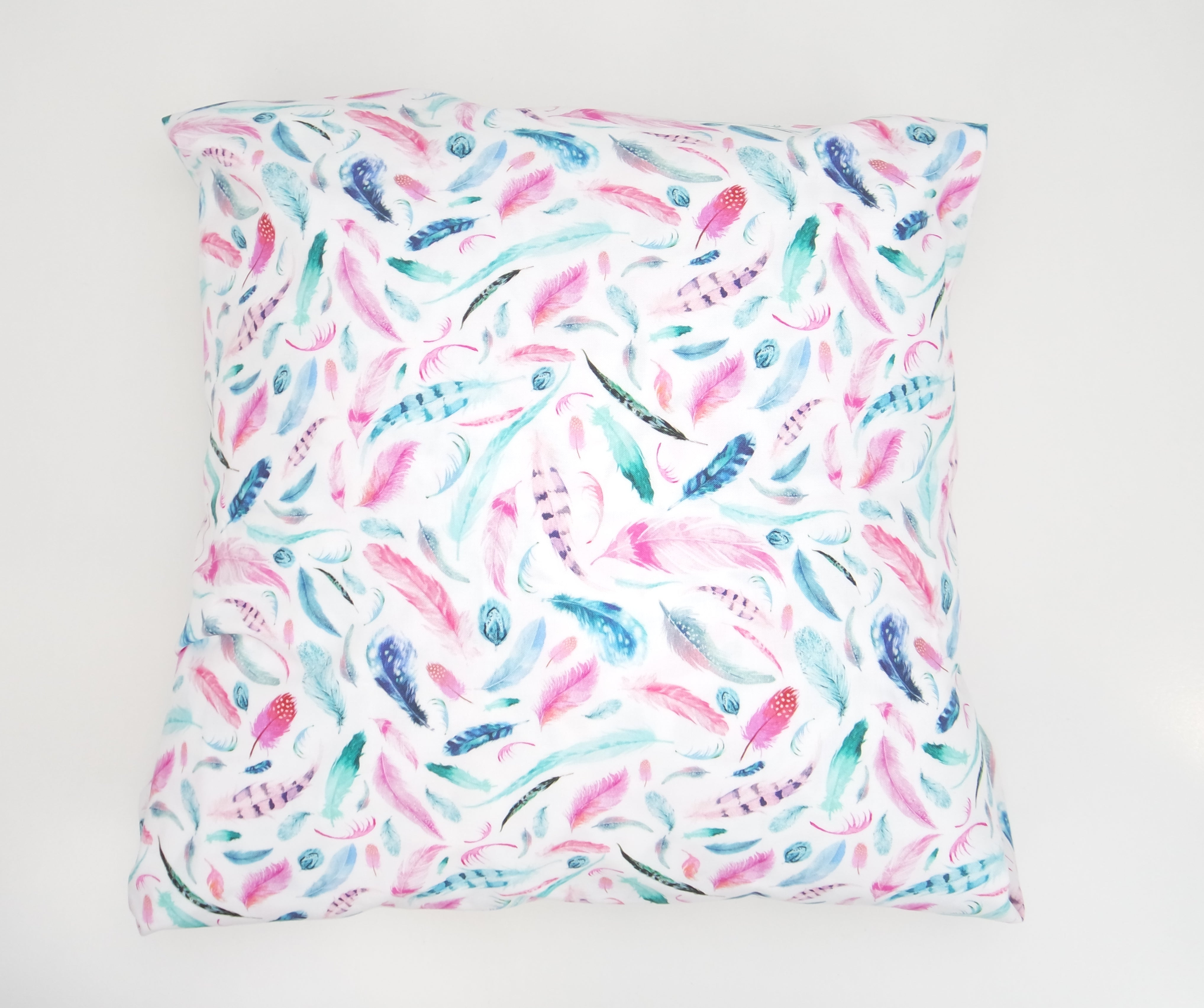 Bright Pink Feather Cushion Cover