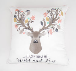 Wild and Free Deer Cushion Cover