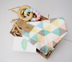 Pastel Bib & Teether Gift Box