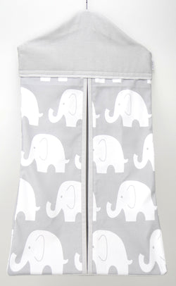 Nappy Stacker - Grey & White Elephant