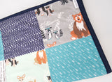 Hello Bear Woodland Patchwork Quilt
