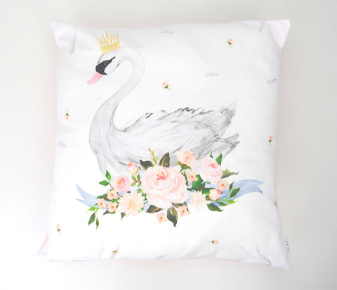 Elegant Swan Cushion Cover