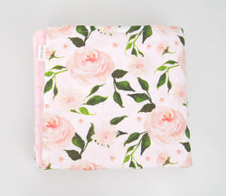Minky Baby Blanket with Elegant Roses