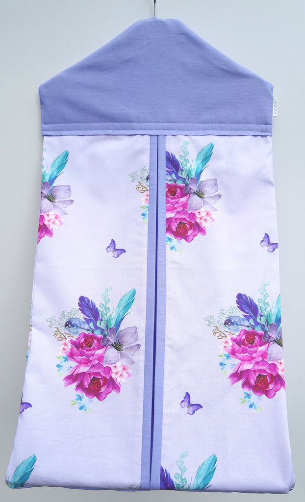 Purple Boho Floral Nappy Stacker