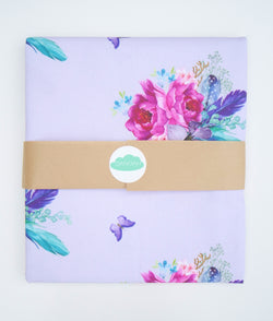 Purple Boho Floral Fitted Sheet