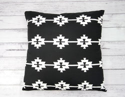 Black Aztec Cushion Cover
