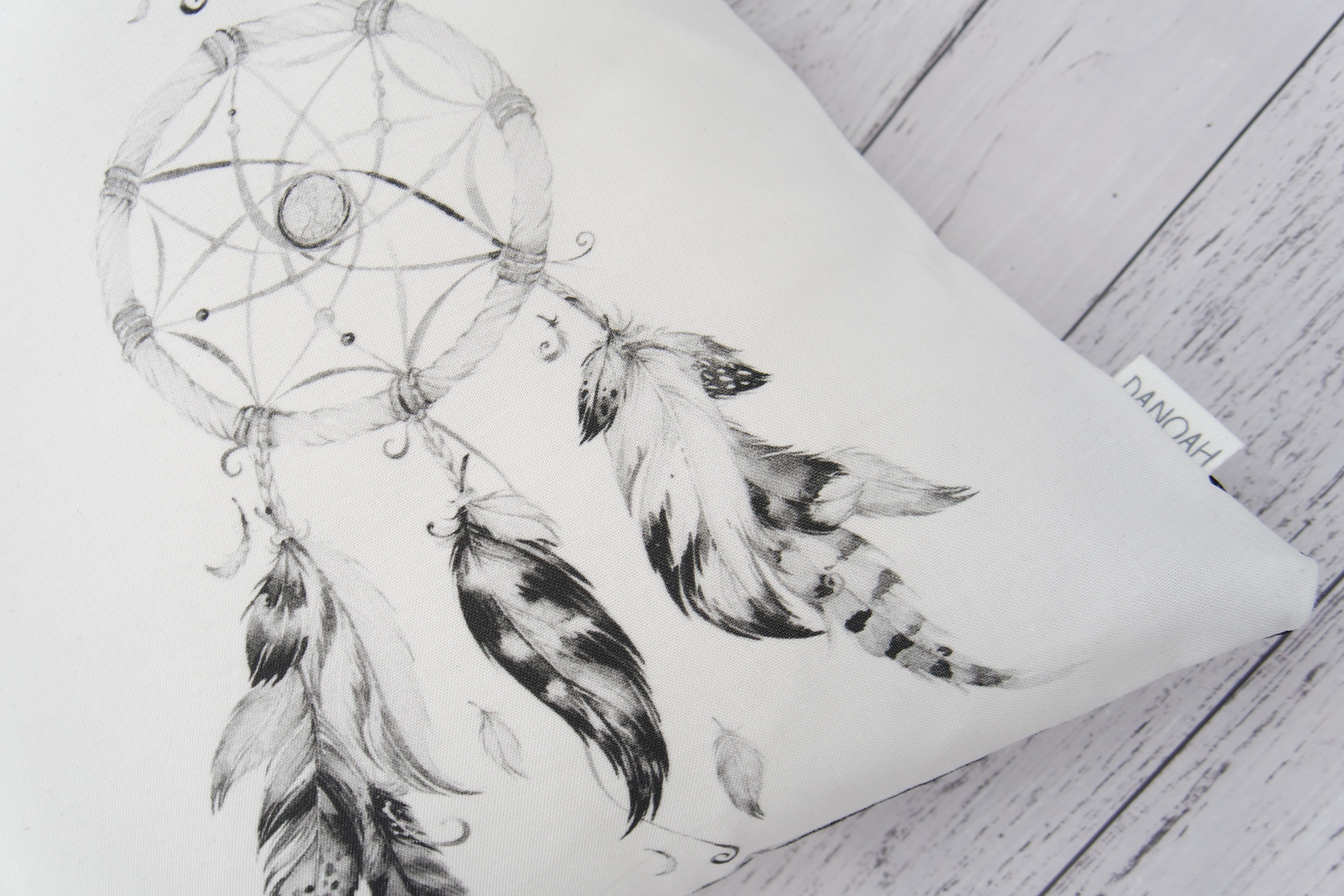 Black Dreamcatcher Cushion Cover