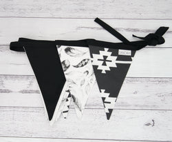 Black Boho Bunting Flags