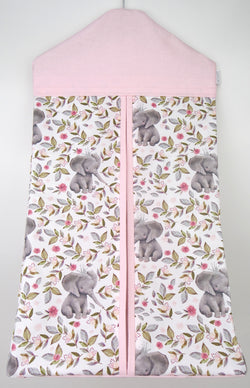 Pink Floral Elephant Nappy Stacker