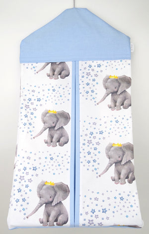 Blue Crown Elephant Nappy Stacker
