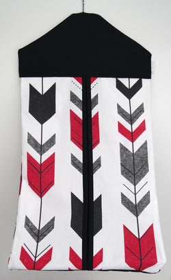 Nappy Stacker - Red, Grey & Black Arrow
