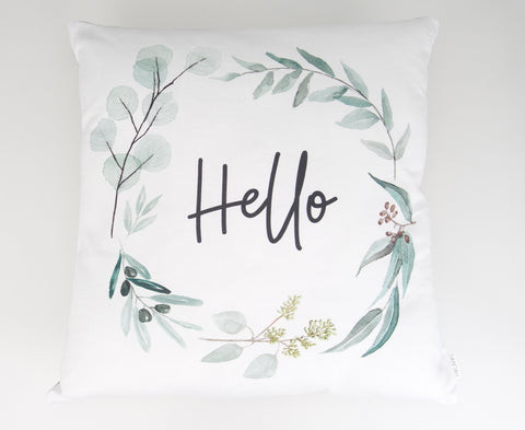 Hello Wreath Cushion Cover