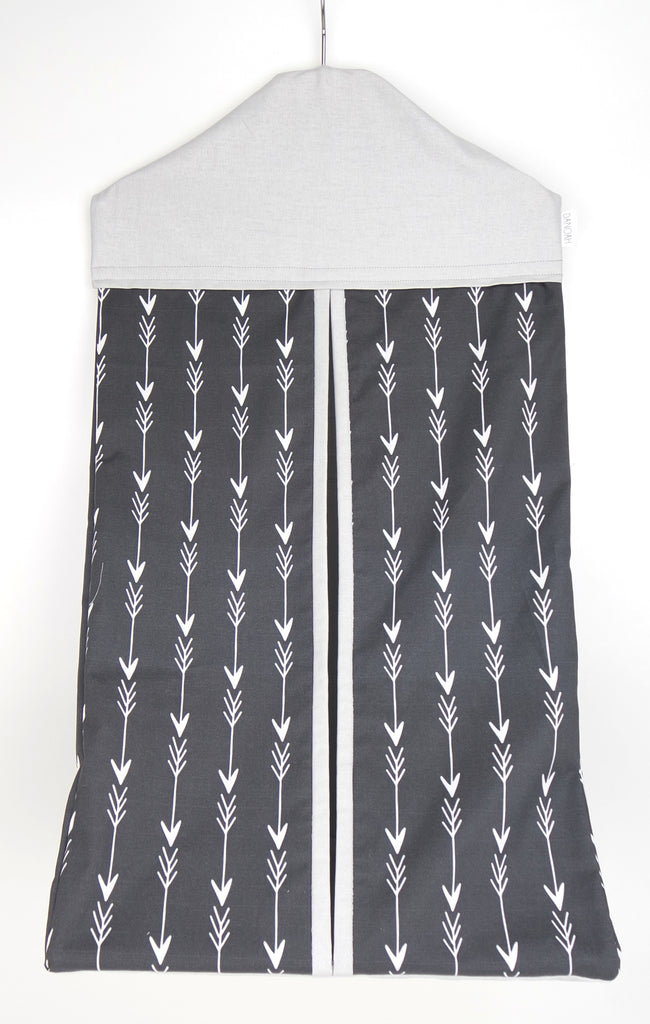 Nappy Stacker -  Grey & White Arrow