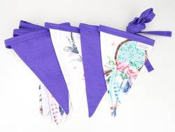 Bright Purple Dreamcatcher Bunting Flags