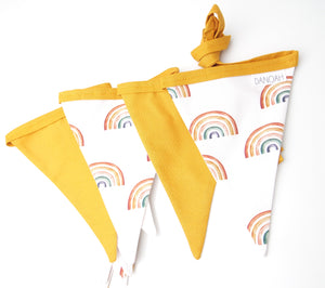Earthy Rainbow Bunting Flags