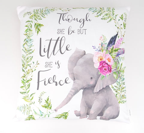 Fierce Elephant Cushion Cover