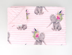 Fierce Elephant Minky Baby Blanket