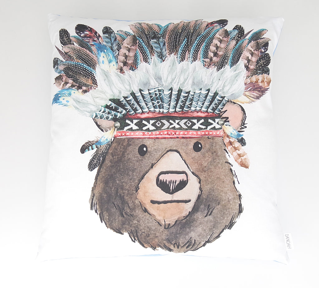 Tribal Bear Cushion Cover